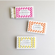 Personalized Heart 2 Heart Wedding White Matchboxes (Set of 50)