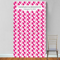 Personalized Heart 2 Heart Photo Booth Backdrop