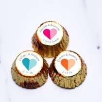 Personalized Heart 2 Heart Hershey's Reese's Peanut Butter Cups (Set of 100)