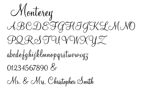 Monterey Font