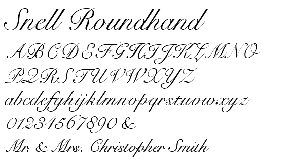 Snell Roundhand Font