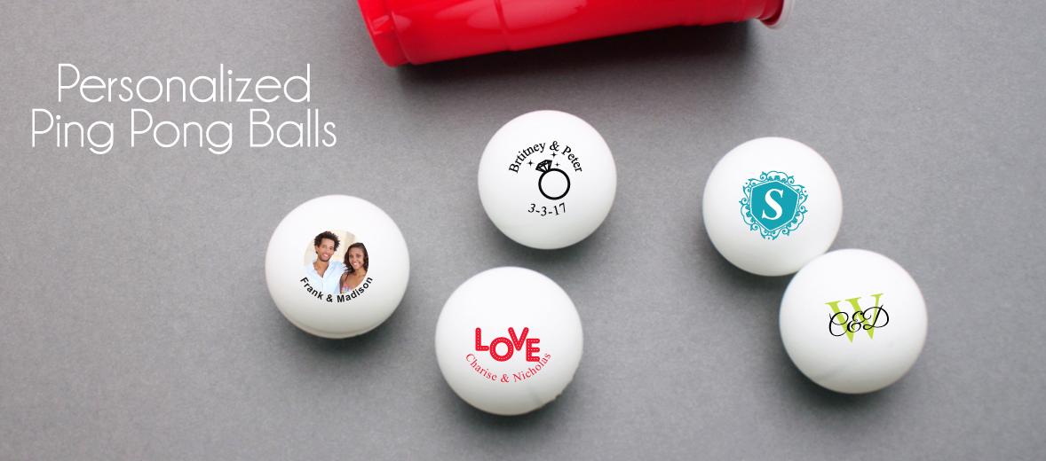 Custom beerpong ping pong balls